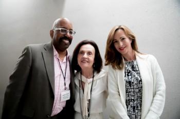 Arthur Dunn y Joan Volpe del FIT con Paloma Díaz Soloaga
