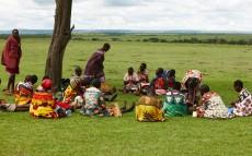 Mujeres de la tribu Masai Mara en el área de Conservación del Parque Natural de Maasai Mara, Kenia.
