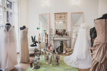 Exposición Haute Coutue Francaise en la Feria de Moda Vintage Madrid. Foto de Arturo Resel.