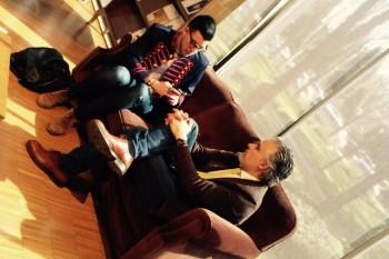Juan Gratacós durante la entrevista realizada por el alumno Javier Pérez Santana