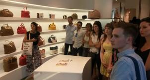 Con el Store Manager de la tienda de Bimba y Lola en Serrano