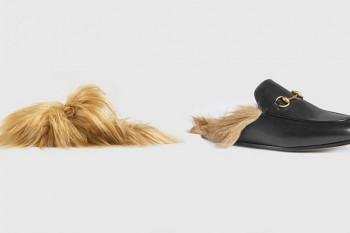 Mocasines con pelo de la nueva colección de Gucci para este otoño/invierno 2015.