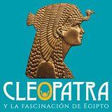 """Logotipo de la exposición """"Cleopatra y la fascinación de Egipto""""."""