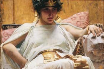Cleopatra, óleo sobre lienzo.