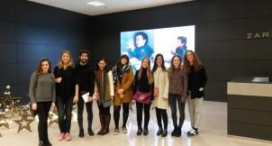 Alumnos de CGModa en la sede de Inditex en Arteixo.