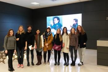 Alumnos de CGModa en la sede de Inditex, Arteixo