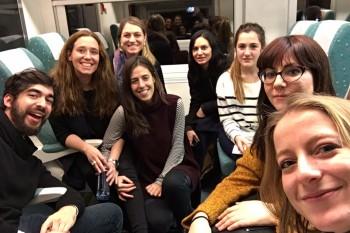 De camino a Inditex en el tren.