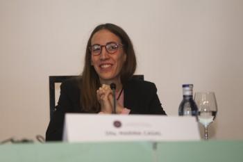 Marina Casal, socia de Andrés Gallardo. Foto: Carlos de la Osa.