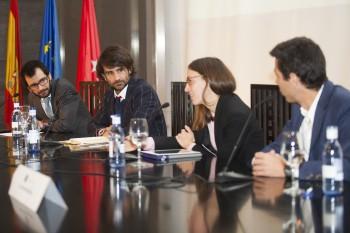 Christian de Angelis, de Modaes.es; Antonio Riera, de El Ganso; Marina Casal, de Andrés Gallardo y Juan Manzanedo, de Logisfashion. Fotos: Carlos de la Osa.
