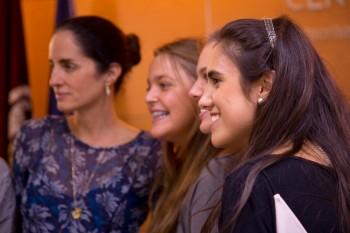 Carolina con alumnos de CGM
