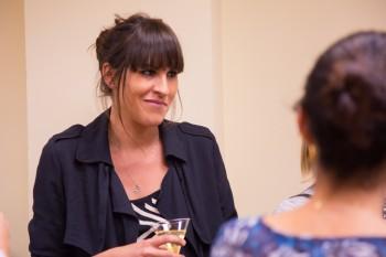 Pilar Riaño, profesora de CGM, después del encuentro con Carolina