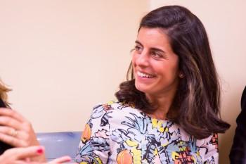 Pilar Miguel, directora de comunicación de CGM, después del encuentro