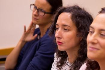 Cristina Gutiérrez e Isabel Fernández de Córdova, profesoras de CGM, durante el encuentro