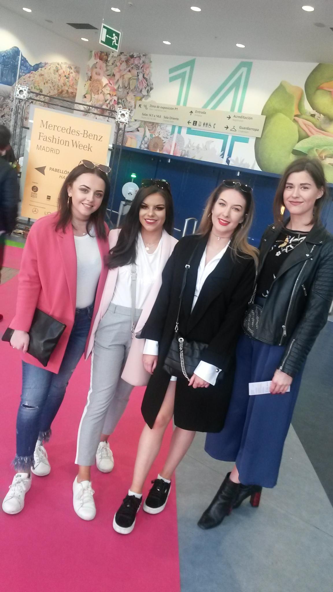 Cuatro estudiantes de GCU en Cibelespacio de MBFW Madrid Febrero 2017.