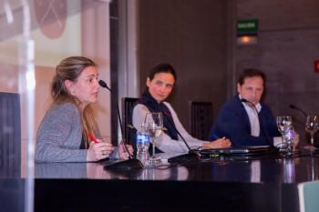 Marta Fdez durante su intervención
