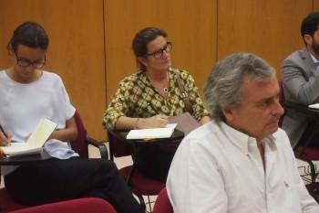 Profesores del claustro durante la sesión