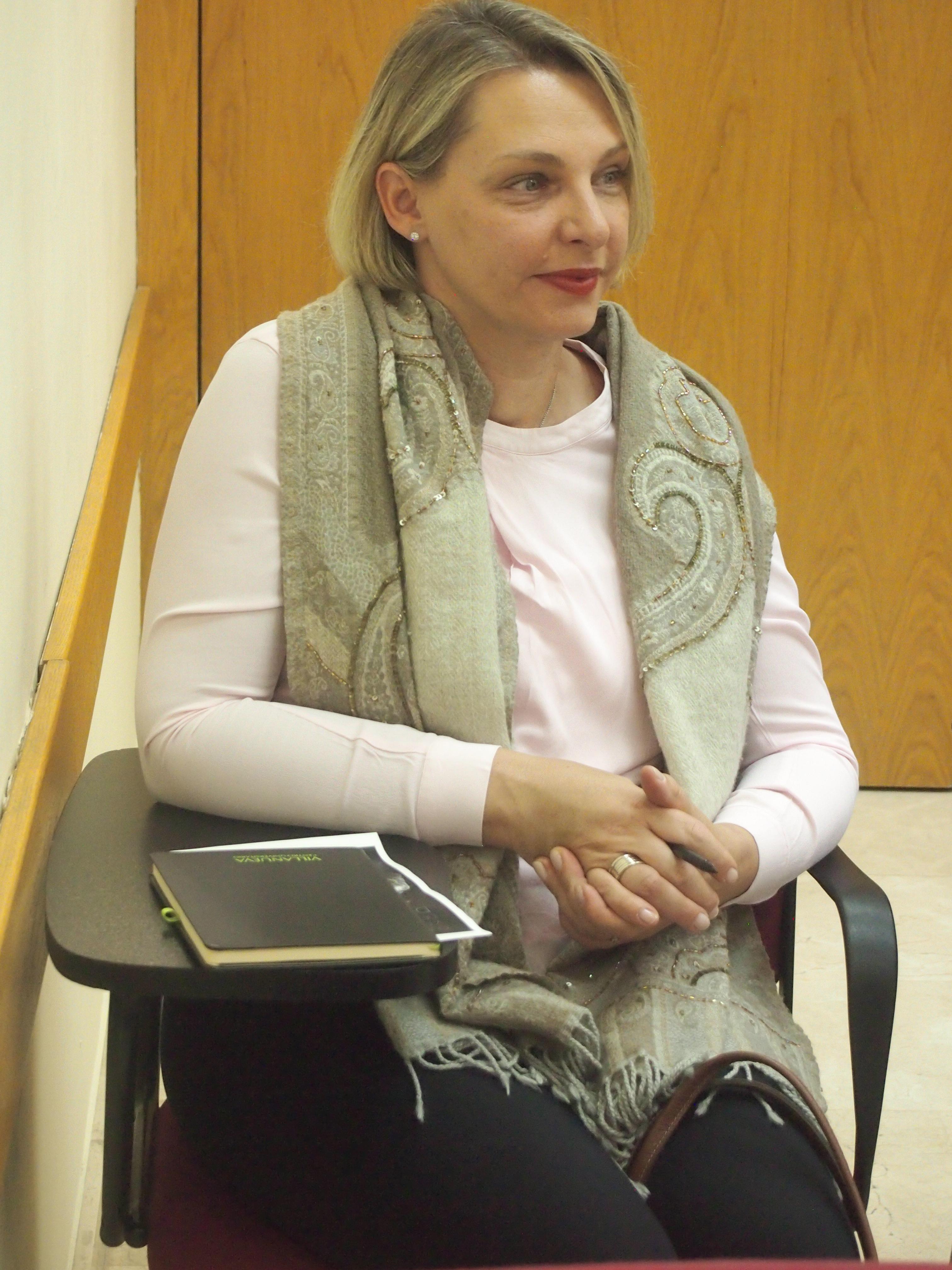 Kerstin Krause, profesora del curso de DIseño y creación de una colección de moda