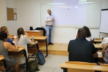Leo Guiñazu durante una de las sesiones