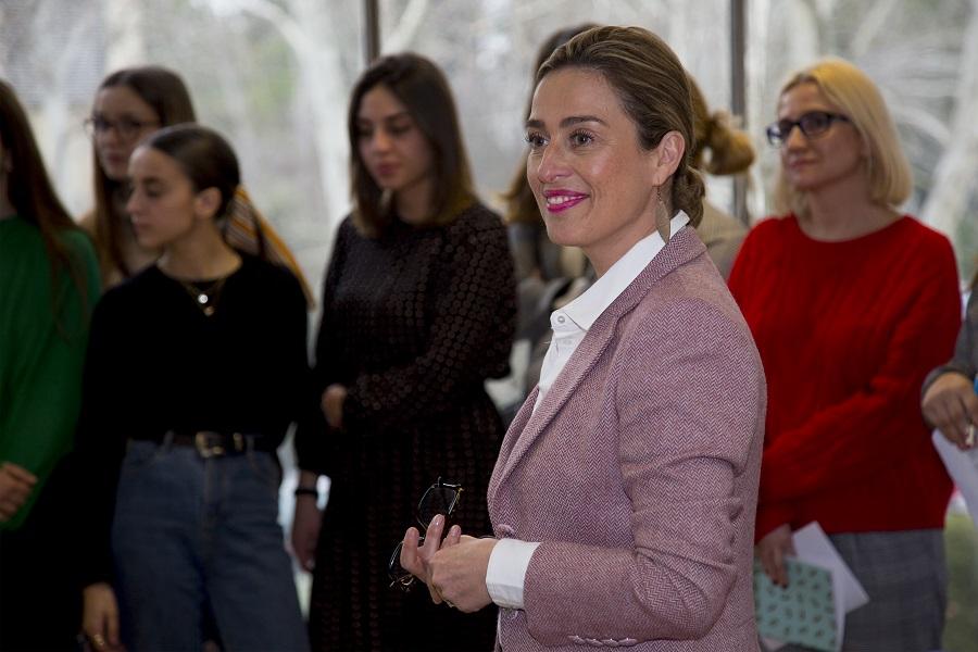 Ana Rodríguez, de Ifema, durante el Taller