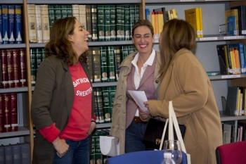 Cristina Ester de El Ganso con Ana Rodríguez y Mª José Romanillos de Ifema