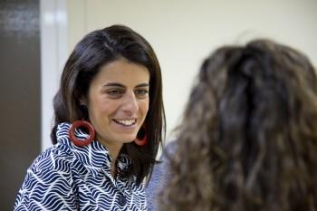 Pilar Miguel durante el acto de bienvenida