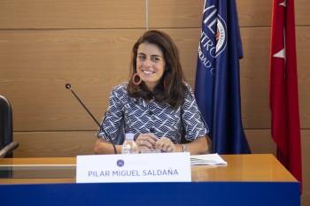 Pilar Miguel en la presentación del curso