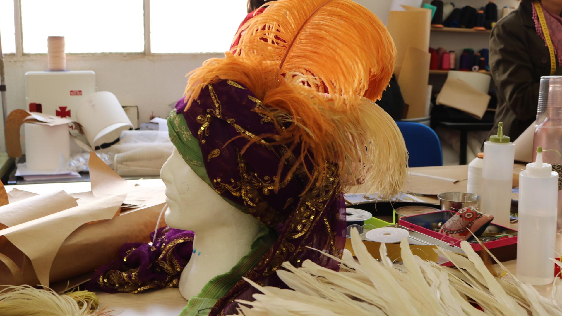 Zona sombrerería de la Sastrería Cornejo