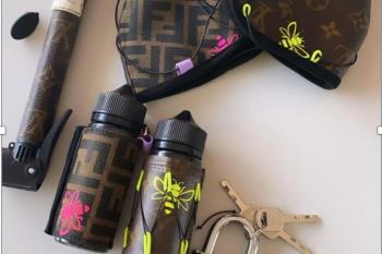 Chiara Ferragni muestra en su perfil de Instagram, sus mascarillas y geles desinfectantes de Louis Vuitton y Fendi