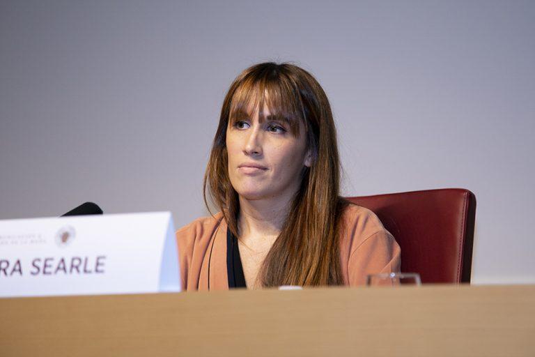 Laura Searle durante su intervención